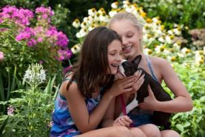 girls with dog at amnc