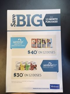Sentinel coupon for 30 dollars off a year's supply
